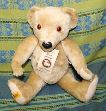Vintage Merrythought Merry Thought Mohair Teddy Bear Jointed Orig Tags Growler