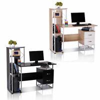 HOMCOM Computer Desk Workstation Laptop Drawer Shelf Home Office Study Table