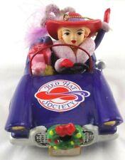 Nib Retired 2008 Red Hat Society Purple Car Christmas Ornament Danbury Mint