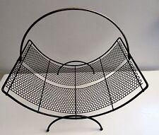 Vtg Mid Century Modern Wire Magazine Rack Mategot Eames Era Atomic 50s Retro 60s