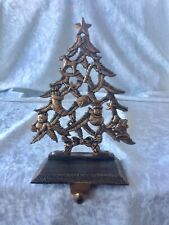 Christmas Tree Stocking Holder Hanger Hook Gold Bronze Antique Finish
