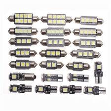 23pc LED Car Inside Light Kit Dome Trunk Mirror License Plate Lamp Bulb White