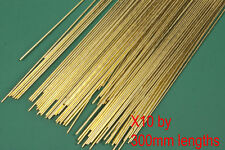 10 X 0.7mm Diameter Brass Modellers Wire Fits O Gauge Handrail Knobs. 300mm Long