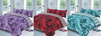 ROSE DUVET SET QUILT COVER PILLOW CASES BEDDING SINGLE DOUBLE KING SUPER KING
