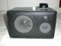 1x Vintage Box Lautsprecher Speaker mit Audio Level Pegel Regler 18x11x10cm