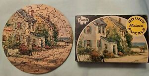 Vintage Tuco Round Miniature Puzzle Complete With Box