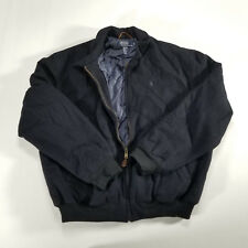 Vintage 90s Polo Ralph Lauren Casual Harrington Quilted 100% Wool Jacket Coat XL