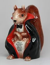 Ceramic Money Saving Bank Vampire Squirrel Piggy Bank.Truly Bloody Nuts about Mo