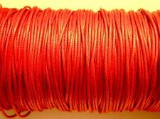 lacci COTONE cerato color corallo 1mm 1 metro ricambio cordini bracciali collane