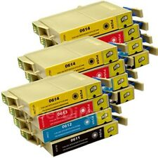 12 CiberDirect T0611 T0612 T0613 T0614 Ink Cartridges to fit Epson Printers