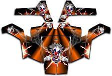 Polaris RZR 800 UTV Wrap Graphics Decal Kit 2007 2010 Pyro The Clown Orange