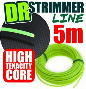 5m DR Strimmer Cord Line Wire String Nylon 3.mm Round Petrol TRIMMER HEAVY DUTY
