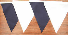 Navy Blue & White tessuto Bunting Matrimonio Decorazione 22ft/6.8mt compra 3 paghi 2