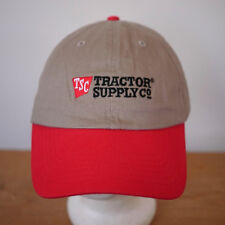 NEW Tractor Supply TSC Embroidered Cotton Khaki Red Cap Hat One Size Adjust