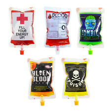 2pcs Reusable Blood Drink Bags Halloween Pouch Props Vampire Cosplay Decoration
