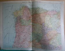 1919 LARGE MAP- EUROPE-SPAIN AND PORTUGAL NORTH WEST