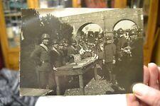FOTOGRAFIA PRIMA GUERRA MONDIALE MILITARI PUBBLICITA' BISCOTTI SAIWA foto