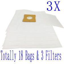 18 Bag & 3 Filter For Hoover Allergy Aura 1 2 5000PH 5006PH 5007PH H2000PH H5000
