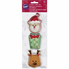 Wilton Santa Christmas Cookie Cutter Set of 3 - Christimas Reindeer Cookies