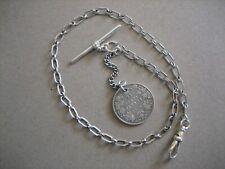 Vintage Unique  Albert S/Silver  Pocket  Watch Chain 13.1/2in. Long
