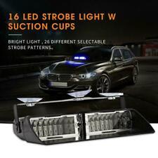 16LED Car Police Strobe Flash Light Dash Emergency 26 Flashing Bright Lamp New