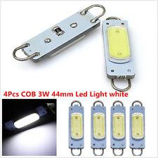 4x White 44mm COB Rigid Loop Festoon LED Light Car Interior Bulb 561 562 Lamp