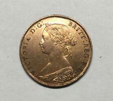 1861 Bronze Penny, Great Britain, Victoria, UK, High Grade, BU