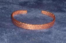 Genuine Copper Band Cuff Bracelet - Solid Metal Handmade   #B1
