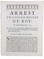 Saint Privat en 1717 Ardèche Auvergne Le Puy Languedoc Arrêt du Roi