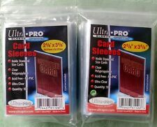 """ULTRA -PRO CLEAR CARD SLEEVES - 800pcs - ACID FREE - 2 5/8 X 3 5/8"""" - ONLY ONES!"""