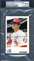 Luis Aparicio Psa/dna Signed 1984 White Sox Card Authentic Autograph