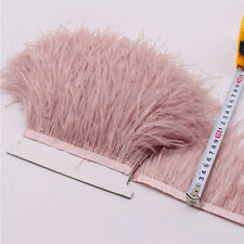 1M Ostrich Feather Satin Ribbon Trimming Fringe Fur Tassel Craft Costume 13-15cm