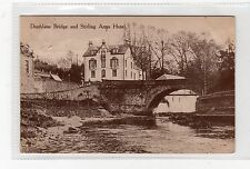 BRIDGE AND STIRLING ARMS HOTEL, DUNBLANE: Perthshire postcard (C8372)