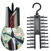 360°Rotating Adjustable 20 Tie Belt Scarf Compact Hanger Rack Holder OrganisO fq