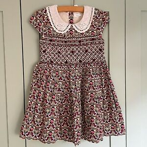 ❤ Summer NEXT SMOCKED TRADITIONAL LITTLE GIRLS DRESS AGE 4-5 YEARS Bnwt New