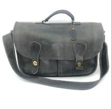 Vtg Cashin COACH CARRIER MUSETTE Black Leather Lrg Messenger Satchel Bag USA 80s