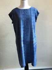 Sexy Joie Blue Leopard Print Silk Cocktail Shift Tunic Dress size S