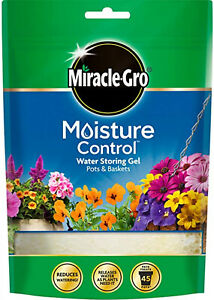 MIRACLE GRO Water Gel Retaining Crystals Reduce Watering Moisture Pots Hydrated