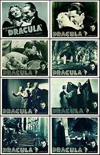 DRACULA  BELA LUGOSI Complete SEPIA Set OF8 INDIVIDUAL 11x14 LC PRINTS R-38 WOW!
