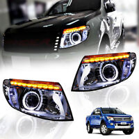 FRONT LAMP HEAD LIGHT PROJECTOR LED CLEAR LEN FOR FORD RANGER T6 MK1 2012-2014