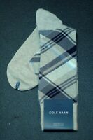 Cole Haan Men's Beige Navy Check Dress Casual Socks 7 - 12 New