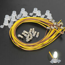 E503WT NEU 10 Set weiß E5 LED 16V 18V 19V Leuchtmittel mit Sockel E5.5 H0