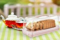Plastic Cake Box Rectangular Cake Carrier Storage Box Clear With Lid Lockable