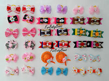 10X Dif PET Puppy grooming dog hair clips Bows SET Yorkie* 1 Extra Free Pet Bow