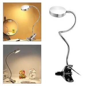Desk Lamp LED Clip On Flexible Memory Bed Desk Reading Table Study Light UK