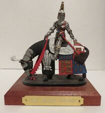 "Medieval Armored Knight on Horse ""The Black Prince"" Metal Figure Statue Mounted"