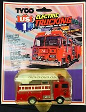 TYCO US1 FIRE ENGINE WORKING BELL AND LIGHTS EXTENDABLE LADDER MINT ON CARD 3911