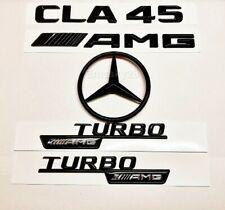 MERCEDES CLA45 C117 GLOSS BLACK REAR STAR+AMG+CLA45+TURBO AMG BADGES 2013-19