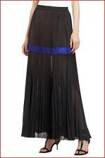 BCBG MAXAZRIA DALLIN B BLACK COMBO PLEATED MAXI SKIRT size S NWT $248-RackC/80
