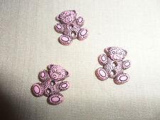 6 pequeña bärenknöpfe, 2 CM, rosa malva para muñecas-, osos - & ropa de niños